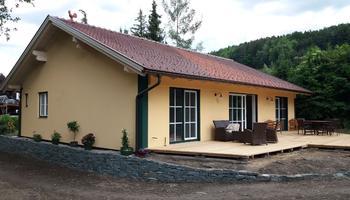 Massivholzbauweise mit Putzfassade