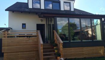 Wintergarten Holz/Alu