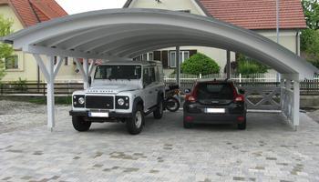 Rundbogen-Carport